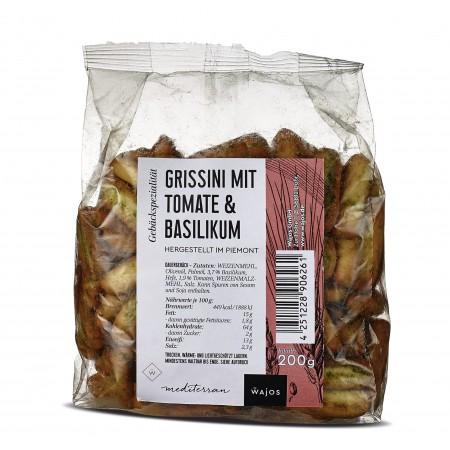 Wajos Gebaeckspezialitaet Grissini mit Tomate Basilikum